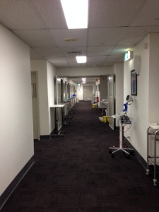 Time to say bye-bye to this corridor that has become my home over the last five days.